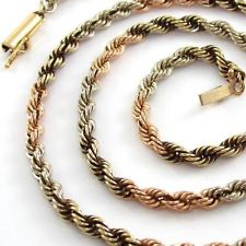 Tri-Color Gold Necklace