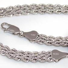 White Gold Braided Bracelet 9